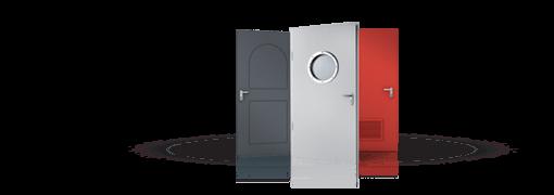 Промислові суцільні сталеві двері