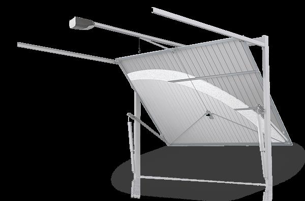 Проста та солідна конструкція підйомно-поворотних воріт wisniowski