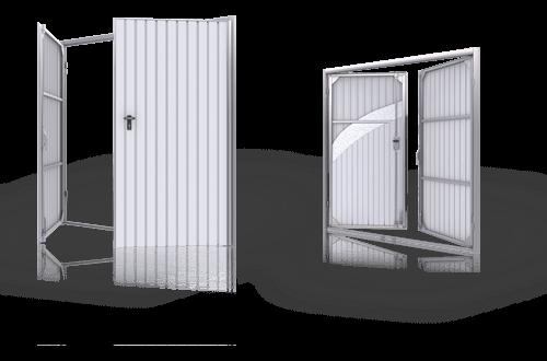 Розпашні двостулкові ворота wisniowski для дому