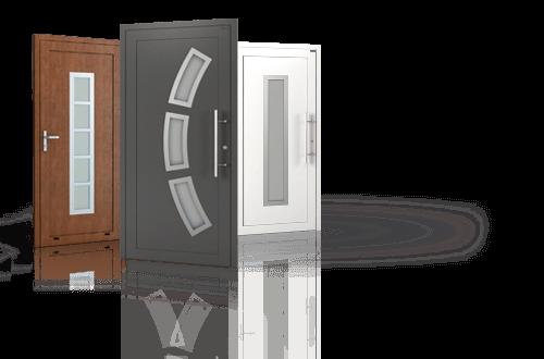 Вхідні алюмінієві двері Deco wisniowski для дому