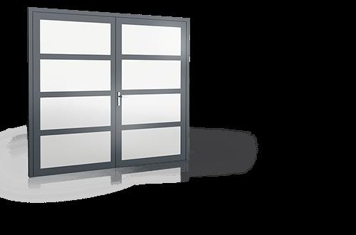 Вхідні алюмінієві двері Plus Line wisniowski для дому