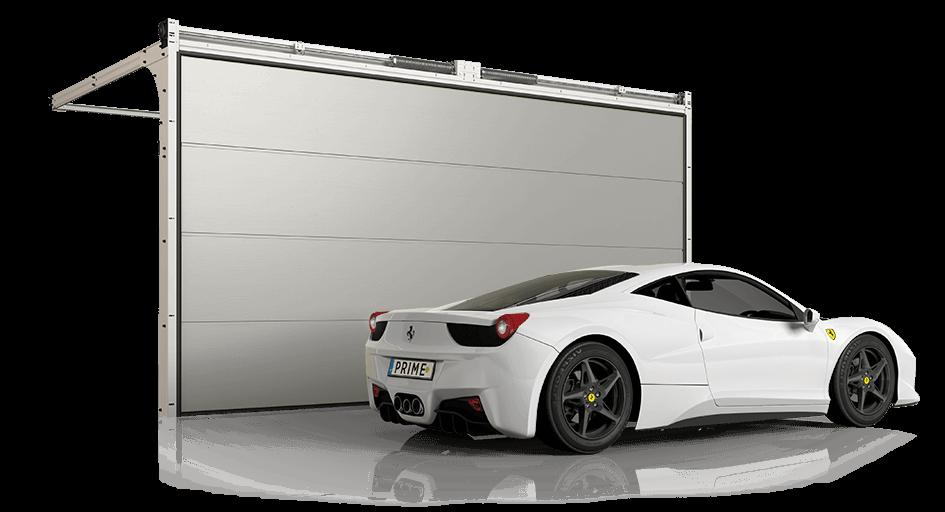 Сучасні секційні ворота Prime для гаражу