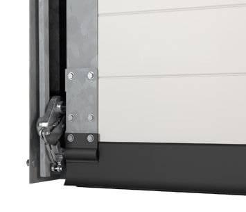 Безпека та функціональність гаражних секційних воріт UniTherm. Гальмо безпеки