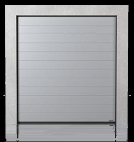 Промислові сталеві секційні ворота з візерунком високий гофр (W)