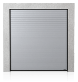 Промислові сталеві секційні ворота з візерунком низький гофр (N)
