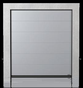 Промислові сталеві секційні ворота без формування (G)