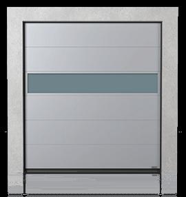 Промислові сталеві секційні ворота з алюмінієвою панеллю VISUAL