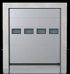 Промислові сталеві секційні ворота з віконцями В-2