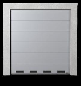 Промислові сталеві секційні ворота з вентиляційними решітками К-1