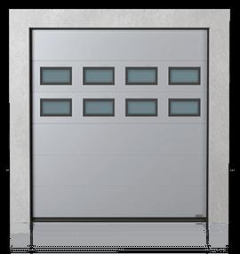 Промислові сталеві секційні ворота з віконцями В-2 x2