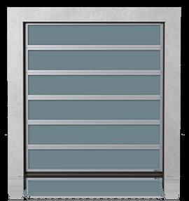 Алюмінієві промислові секційні ворота з склінням VISUAL