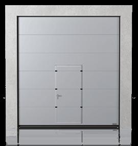 Промислові сталеві секційні ворота з прохідними дверима wisniowski