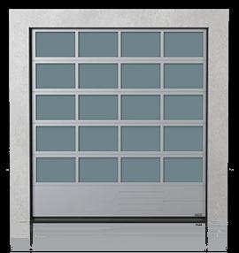 Промислові алюмінієві секційні ворота з нижньою сталевою панеллю G, V, N, W