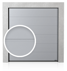 Промислові сталеві секційні ворота з формуванням V (V)