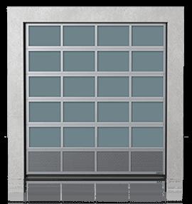 Алюмінієві промислові секційні ворота з вентиляційною нижньою панеллю (з перфорованим листом)