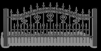 Система елементів для огорожі LUX для дому. Візерунок AW.10.31
