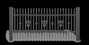 Система елементів для огорожі LUX для дому. Візерунок AW.10.34