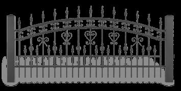 Система елементів для огорожі LUX для дому. Візерунок AW.10.39