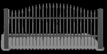 Система елементів для огорожі LUX для дому. Візерунок AW.10.46