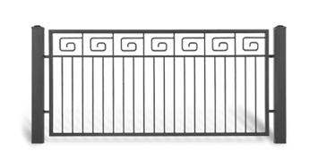 Система елементів для огорожі LUX для дому. Візерунок AW.10.52