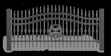 Система елементів для огорожі LUX для дому. Візерунок AW.10.56