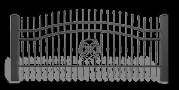 Система елементів для огорожі LUX для дому. Візерунок AW.10.59