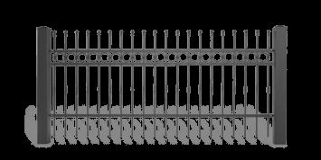 Система елементів для огорожі LUX для дому. Візерунок AW.10.61