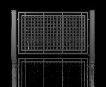 Система елементів для огорожі MODERN для дому. Візерунок AW.10.100