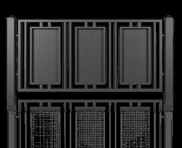 Система елементів для огорожі MODERN для дому. Візерунок AW.10.102