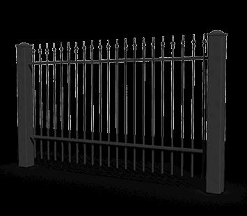 Система елементів для огорожі BASIC для дому. Візерунок AW.10.90
