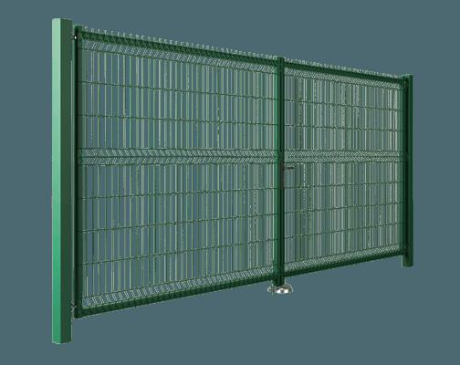 В'їзні ворота та хвіртки Modest. Ворота заповнені решітчастою панеллю Vega B