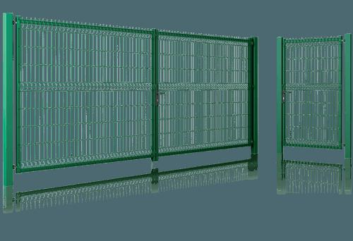 Ворота та хвіртка Modest для огорожі. Комплексне рішення для бізнесу та дому
