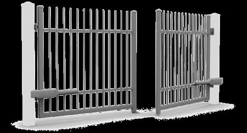 Розпашні ворота wisniowski керовані електроприводом для огорожі
