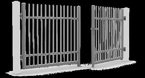 Розпашні ворота wisniowski керовані вручну для огорожі