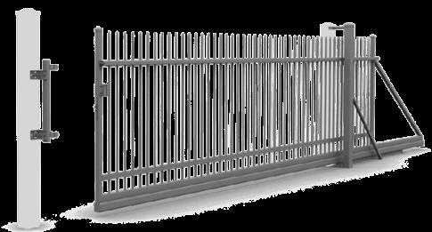 Відкатні ворота керовані вручну для огорожі