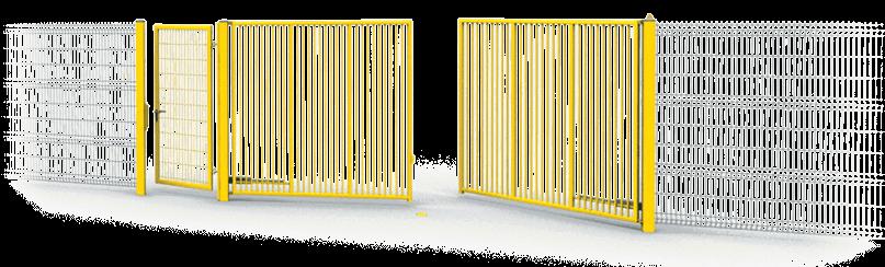Розпашні ворота та хвіртки Bastion для огорожі