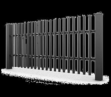 Система елементів для огорожі CLASSIC для дому. Візерунок AW.10.01