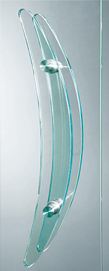 Внутрішні повністю скляні двері wisniowski. Скляна ручка-поручень 02