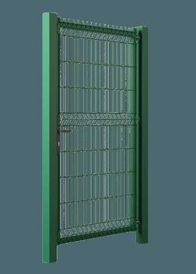 В'їзні ворота та хвіртки Modest. Хвіртка заповнена решітчастою панеллю Vega B
