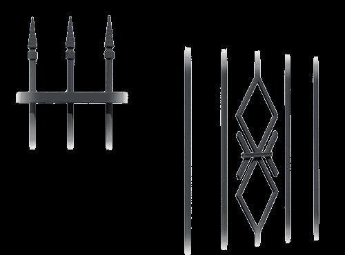 Колекція системи елементів для огорожі basic wisniowski