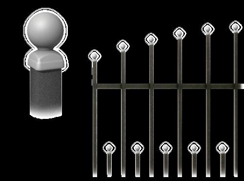 Колекція системи елементів для огорожі premium wisniowski