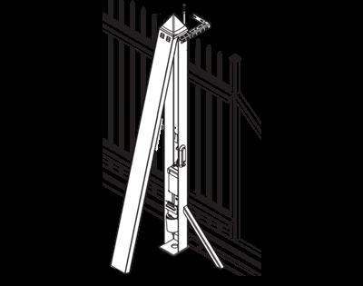 Привід в стовпчику відкатних воріт AWso-2000 для огорожі