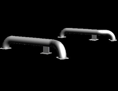 Напрямні для коліс в версії для бетонування – 970-011 для перевантажувальних систем