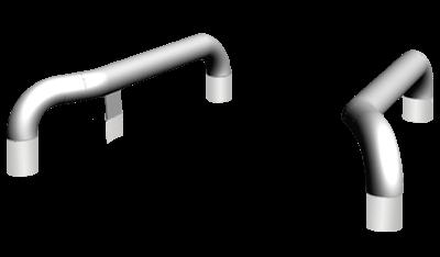 Перевантажувальні системи. Напрямні для коліс в версії для бетонування – 970-013