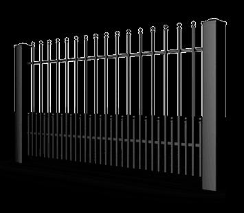 Система елементів для огорожі VARIO для дому. Візерунок AW.10.84