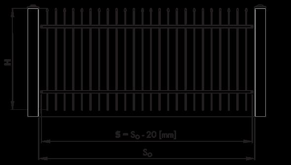 Монтажні розміри та їх позначення огорожі wisniowski для дому