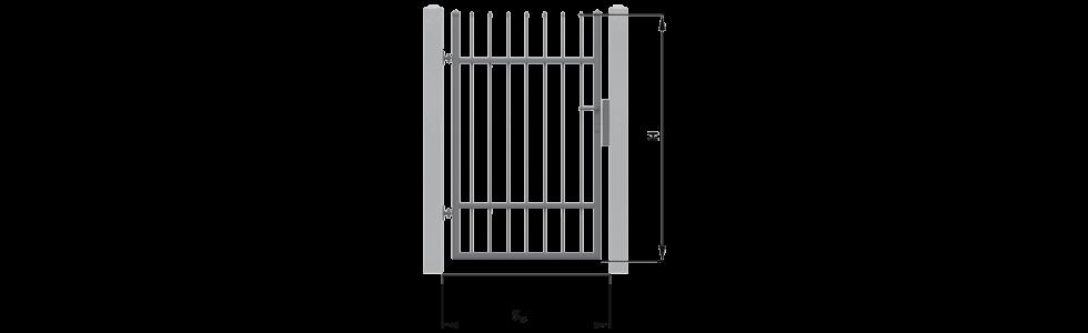 Монтажні розміри та їх позначення хвіртки для огорожі