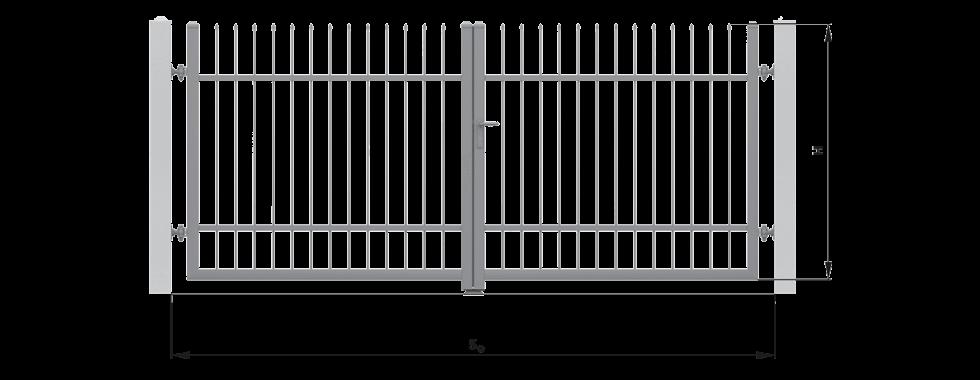Монтажні розміри та їх позначення розпашних воріт wisniowski