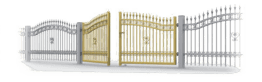 Застосування двостулкові ворота та хвіртки для огорожі wisniowski