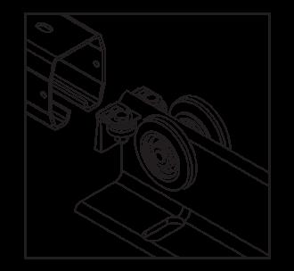 Роликова каретка в рейці 95 х 85 [мм] відкатних воріт для огорожі